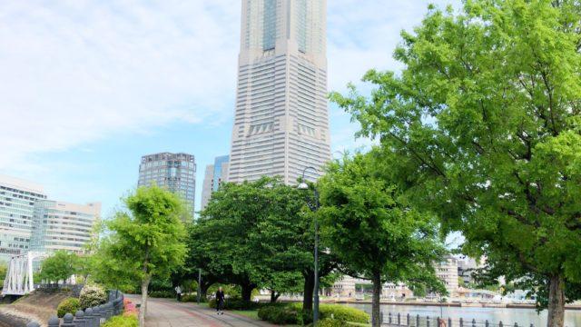 汽車道から見たランドマークタワー