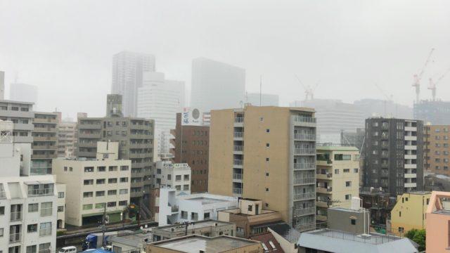 今日部屋から見た横浜駅方面